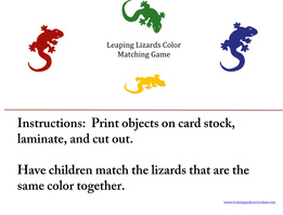 Lizards File Folder Game