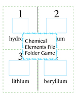 Chemical Elements File Folder Game