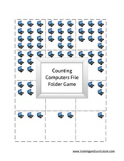 Counting Computers File Folder Game