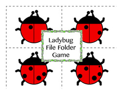 Ladybug File Folder Game