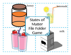 States of Matter File Folder Game