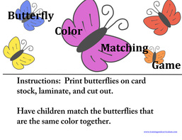 Butterfly Matching File Folder Game