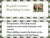 Reptile Letter Matching Game