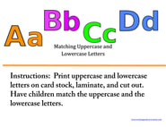 Alphabet Matching File Folder Game